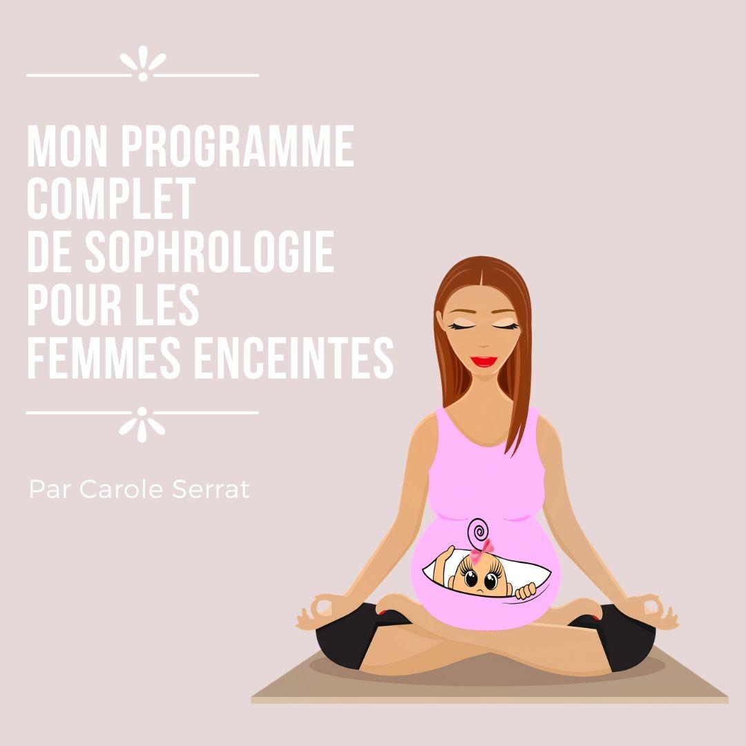 Pack de 9 séances grossesse sereine, Préparation à l'accouchement. Prix de lancement 39 euros au lieu de 50.